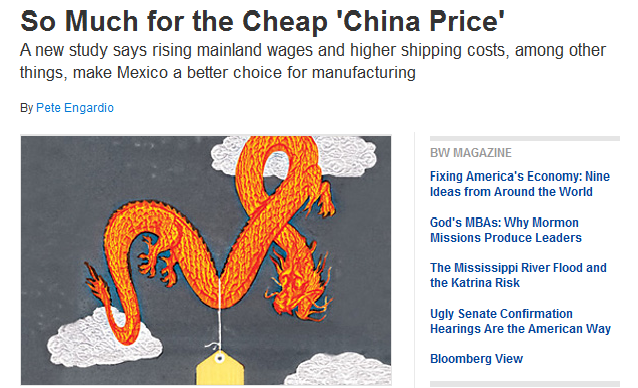 Chinese vs Mexican Prices