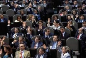 Diputados Votando Ley de Reforma Laboral
