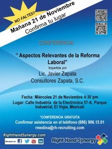 Conferencia - Reforma Laboral - Mexicali