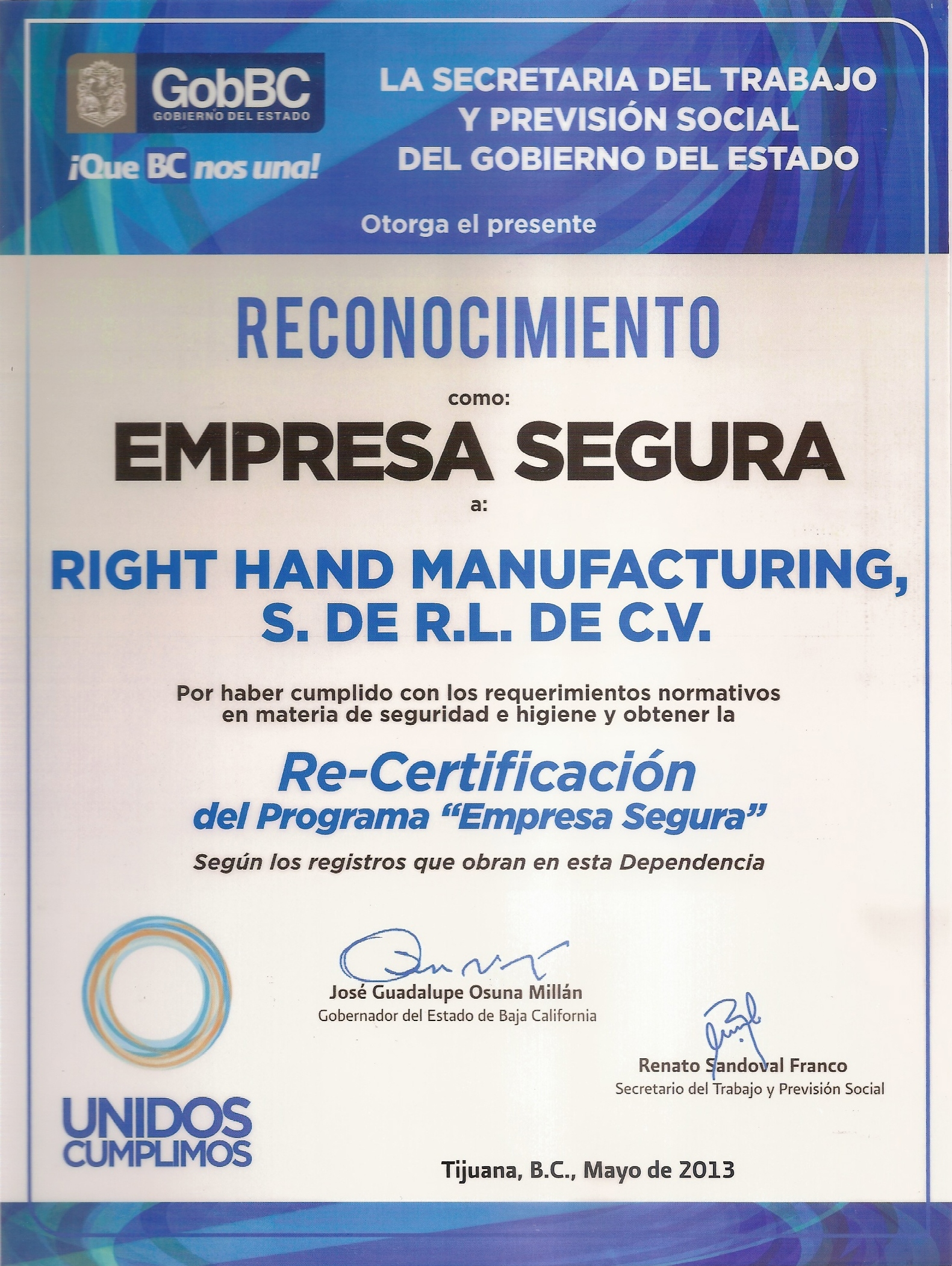 Certifications And Standards Right Hand Synergy